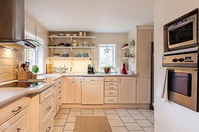 Cuisine de style scandinave beige - Design d'intérieur