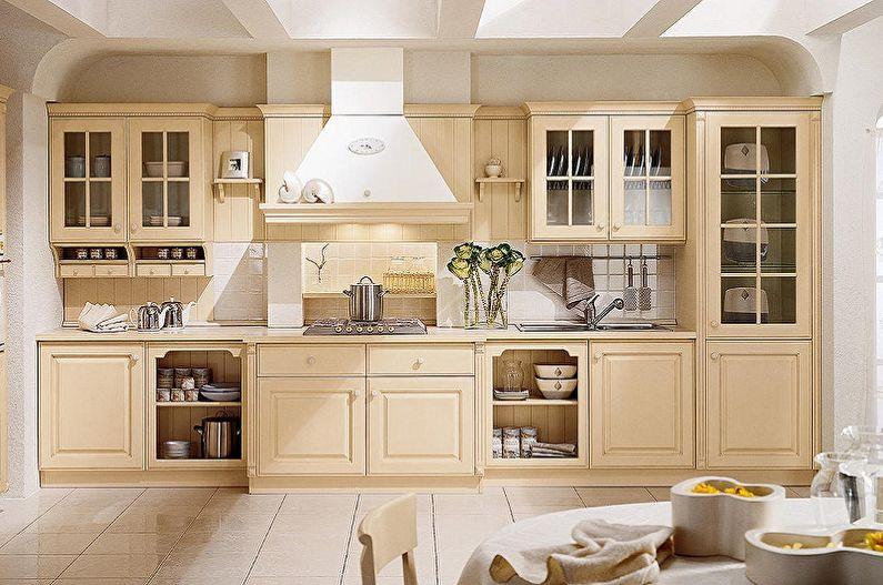 Cuisine de style campagnard beige - Design d'intérieur