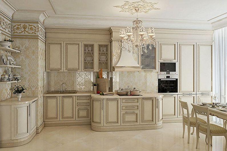 Cuisine beige classique - Design d'intérieur