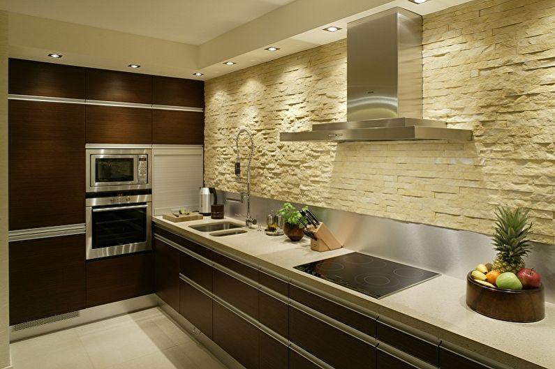 Design de cuisine beige - Décoration murale