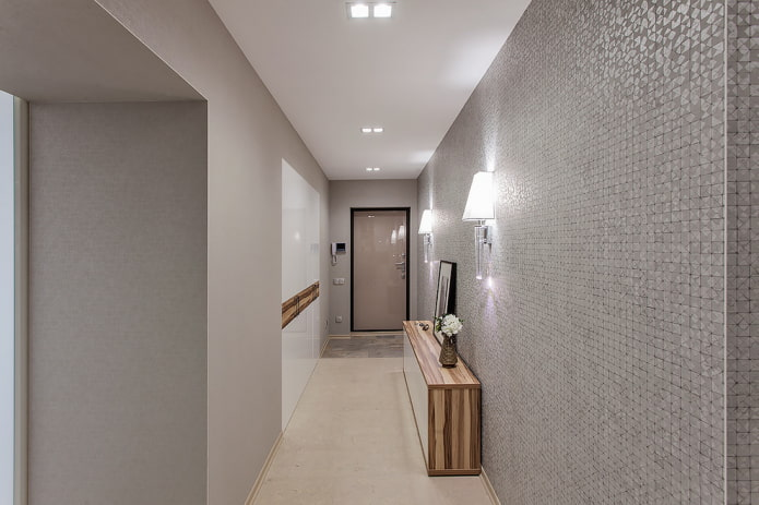 couloir en gris clair