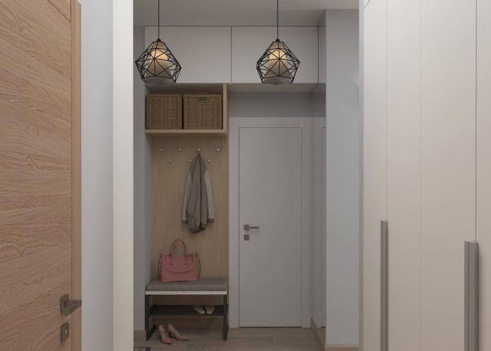 couloir à l'intérieur d'un couloir étroit
