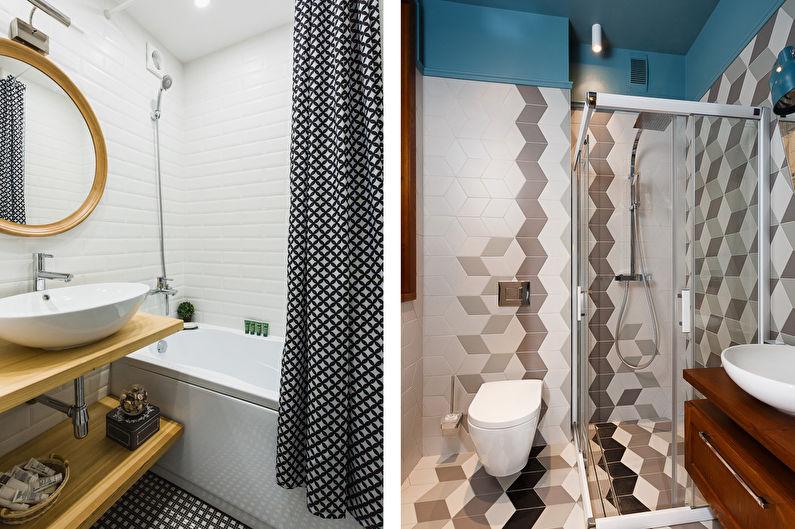 Design de salle de bain scandinave - Accents lumineux