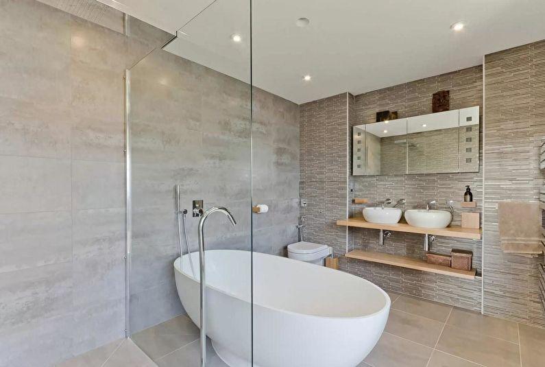 Design de salle de bain scandinave - tons naturels