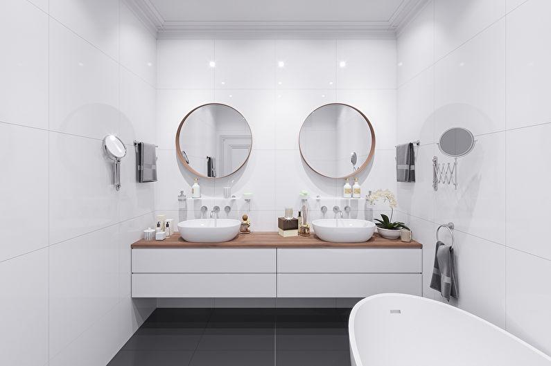 Design de salle de bain de style scandinave - Blanc