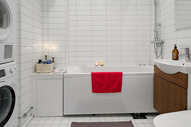 Design d'intérieur de salle de bain de style scandinave - Caractéristiques