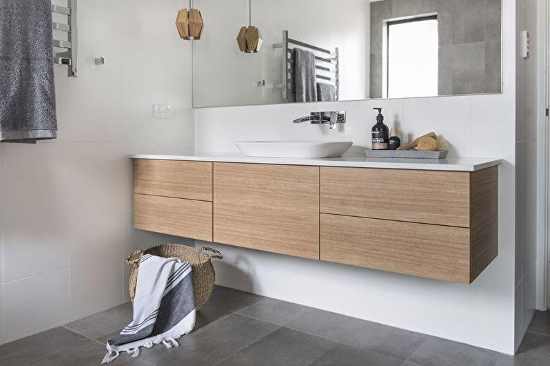 Design de salle de bain de style scandinave - Décorations murales