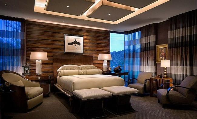 Plafond spectaculaire en placoplâtre avec éclairage sophistiqué