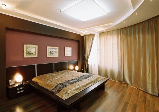 Une variété de structures en plaques de plâtre vous permet de décorer le plafond même dans des pièces peu hautes