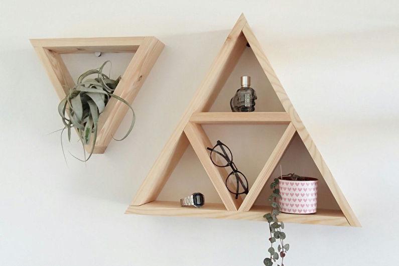 Décoration de chambre bricolage - étagères géométriques