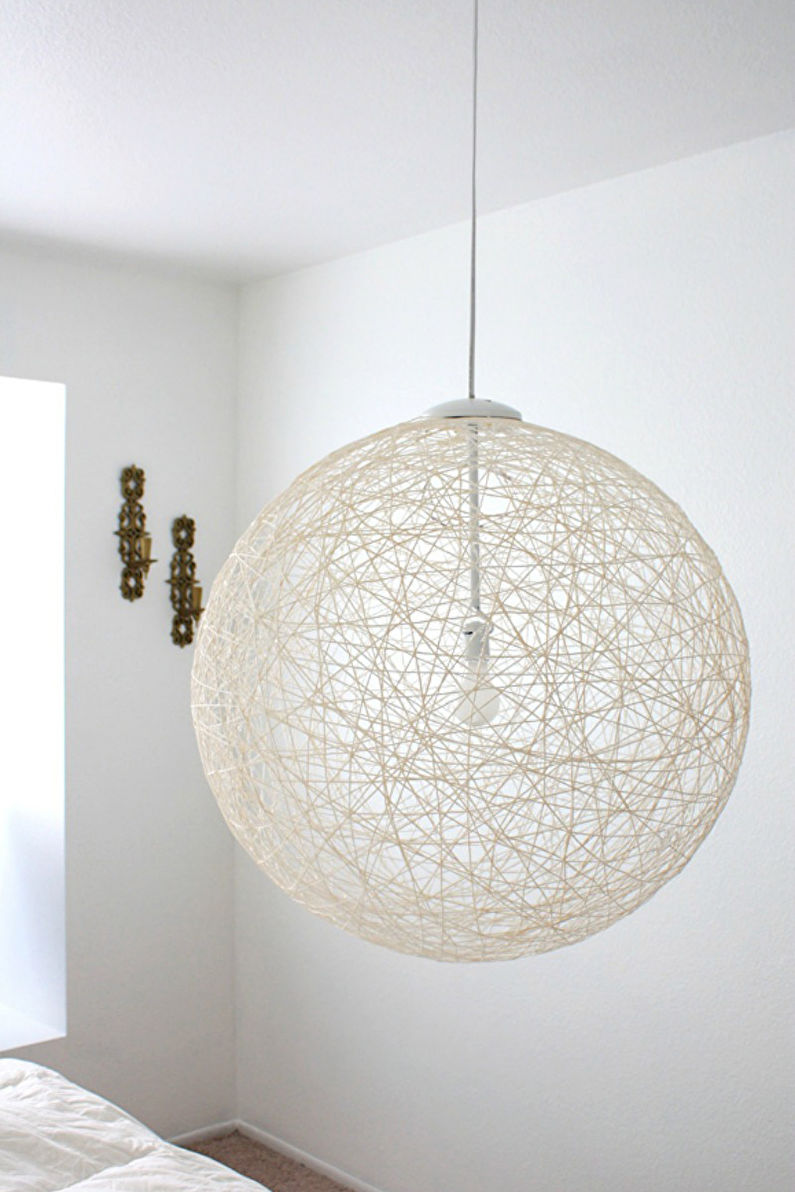 Décoration de chambre DIY - Abat-jour fil