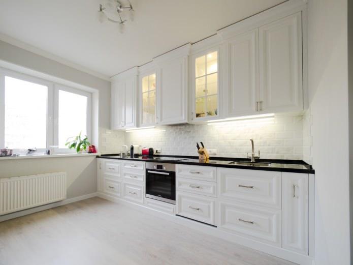 Set de cuisine blanc mat