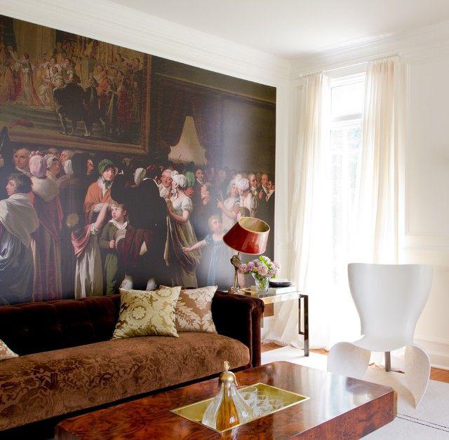 Les canapés avec rembourrage jacquard conviennent aux pièces de style historique - baroque, classique, gothique