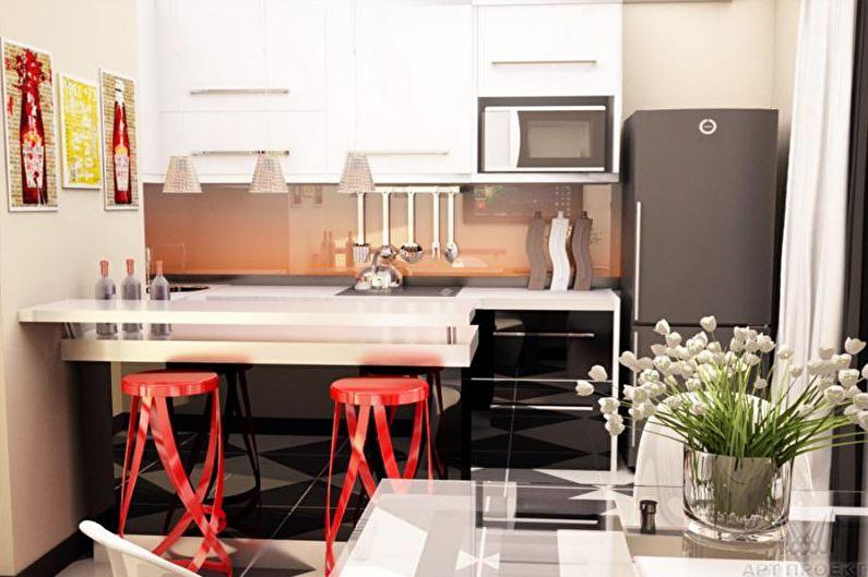 Cuisine - Conception d'un appartement de deux pièces