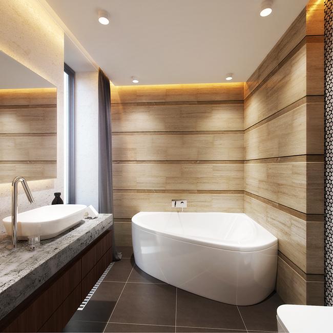 Conception d'une petite salle de bain dans un style moderne