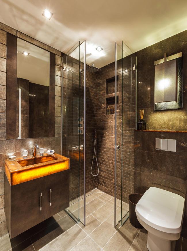 Même quelque chose d'aussi simple qu'une cabine de douche peut être transformé en une œuvre d'art