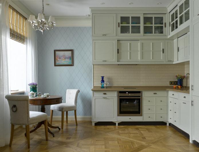 papier peint lavable dans la cuisine