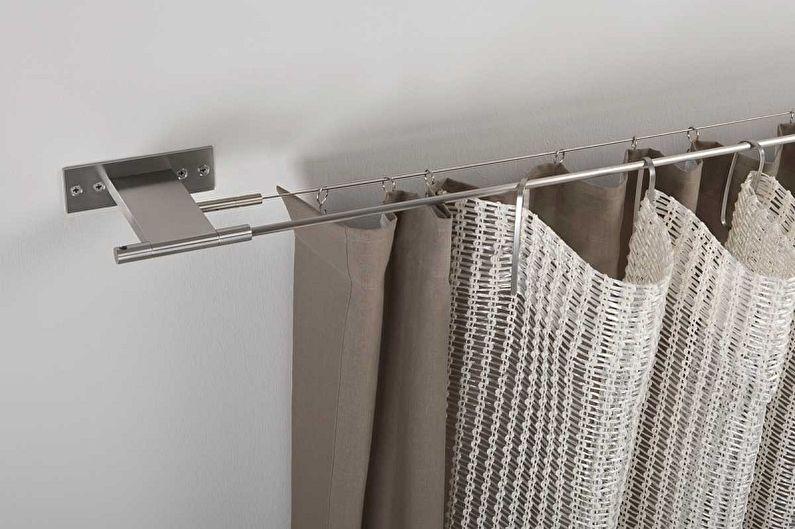 Formes de tringle à rideau - Tringle à rideau flexible