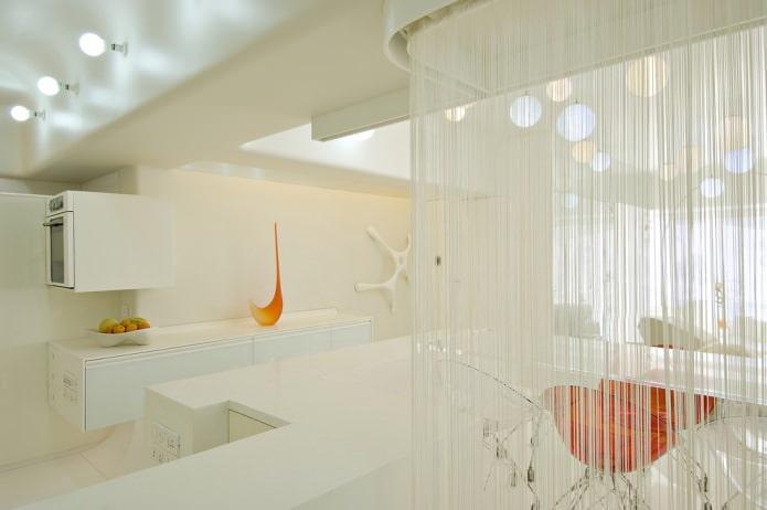 rideaux en coton blanc