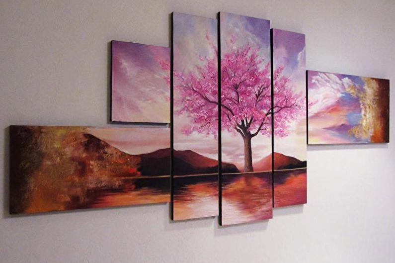 Types de peintures modulaires pour l'intérieur