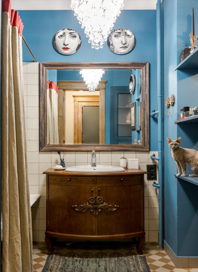 Salle de bain en bleu