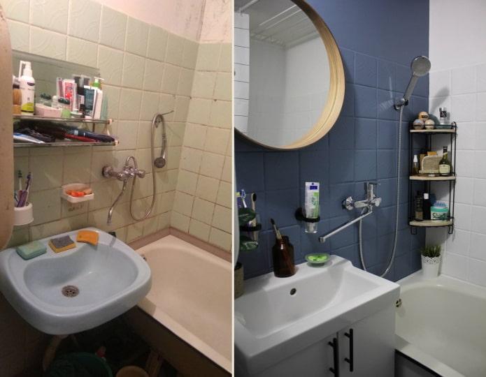 Peindre du carrelage dans la salle de bain