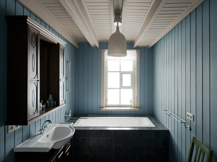 Doublure peinte dans une maison privée
