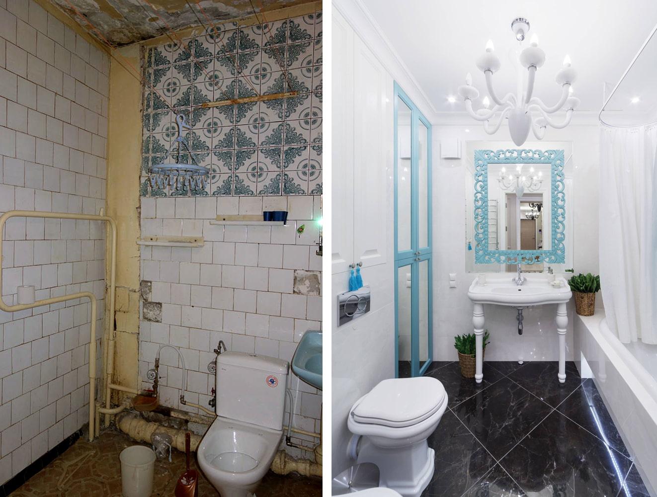 10 exemples de rénovation de salle de bain avec photos avant et après