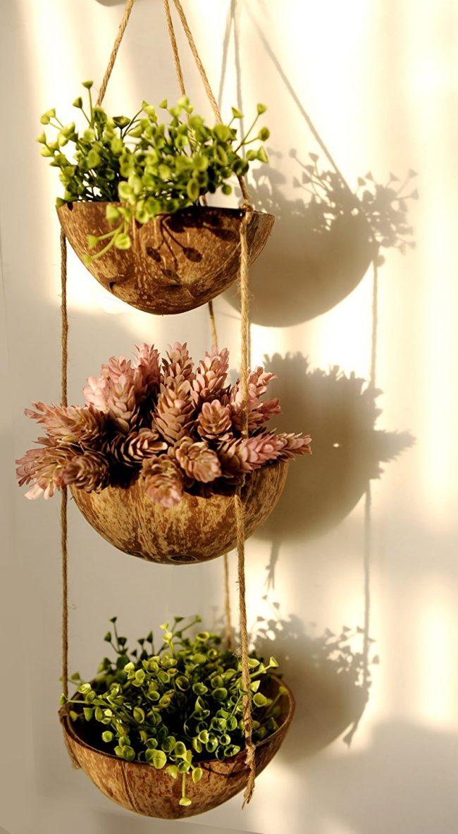 Jardinière en fibre de coco respectueuse des plantes