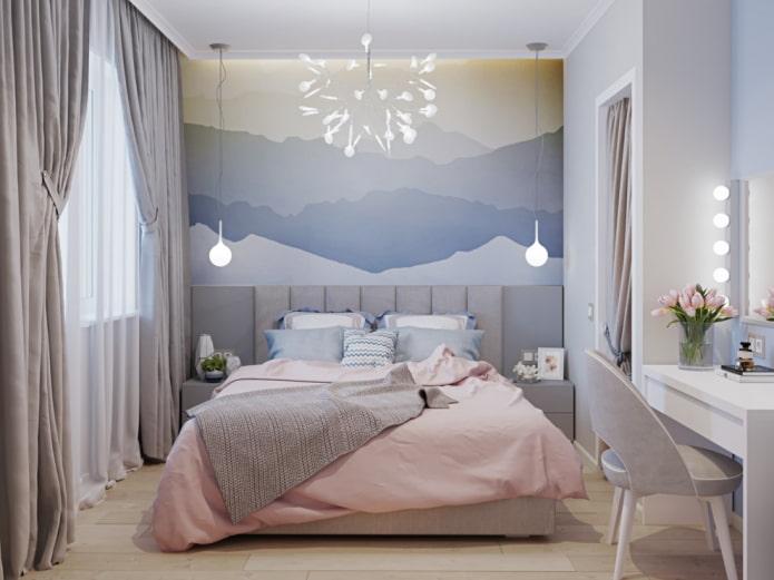 conception de chambre aux couleurs pastel