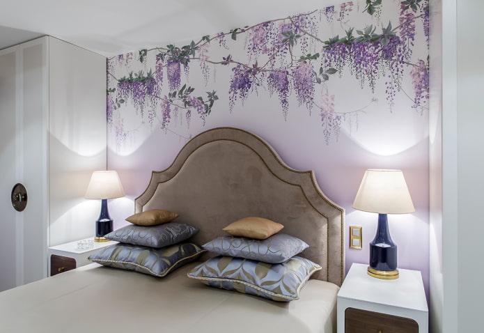 papier peint violet pâle