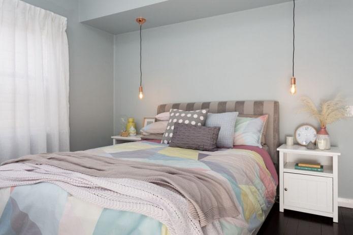 décoration de chambre aux couleurs pastel