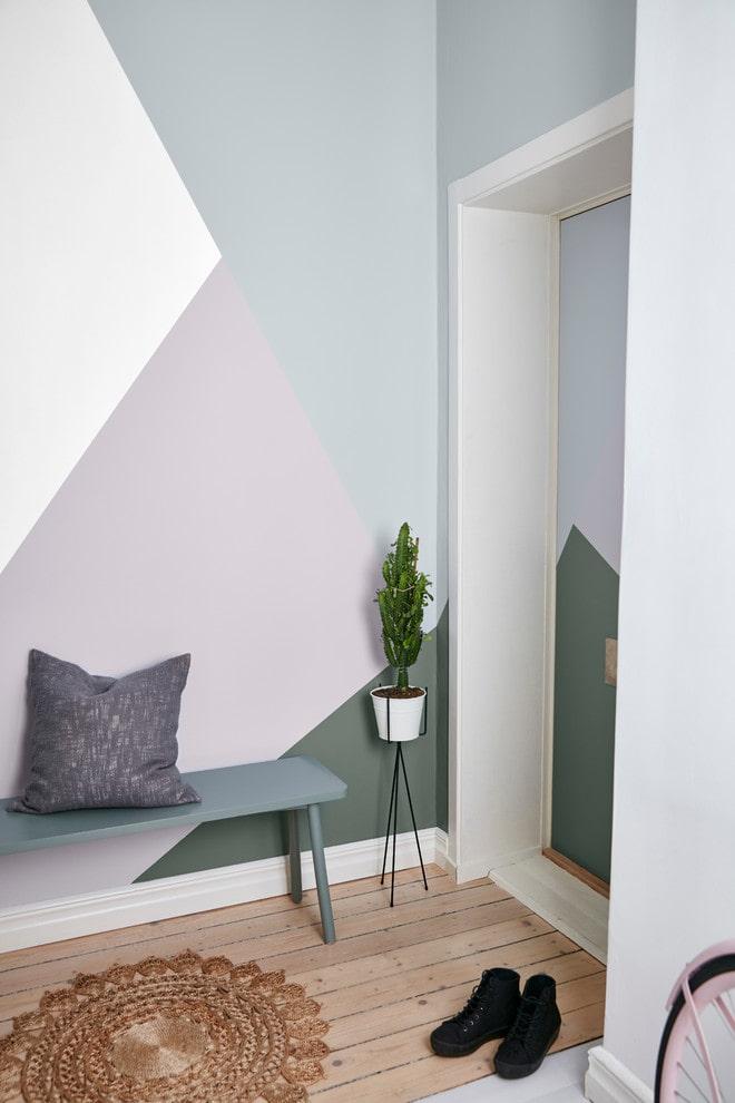 couloir aux couleurs pastel