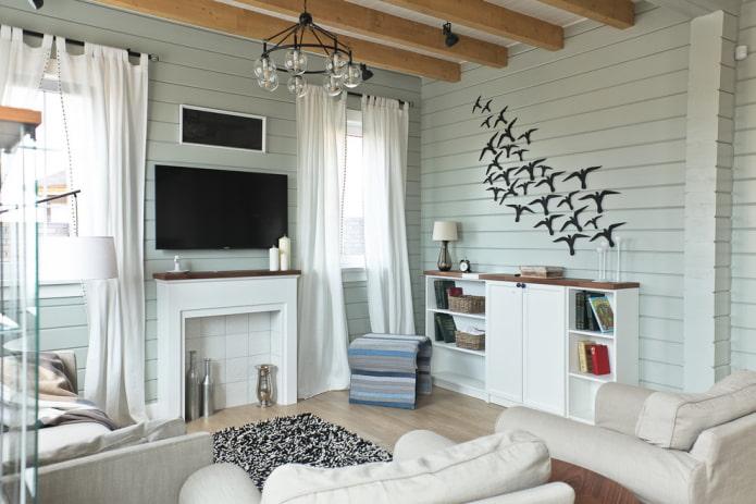 intérieur de maison aux couleurs pastel