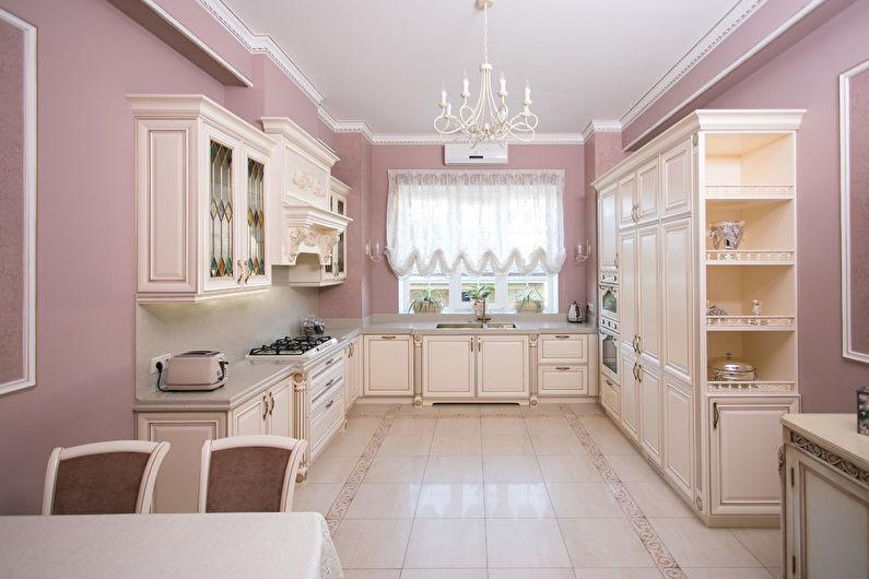Conception de cuisine classique - couleurs pastel
