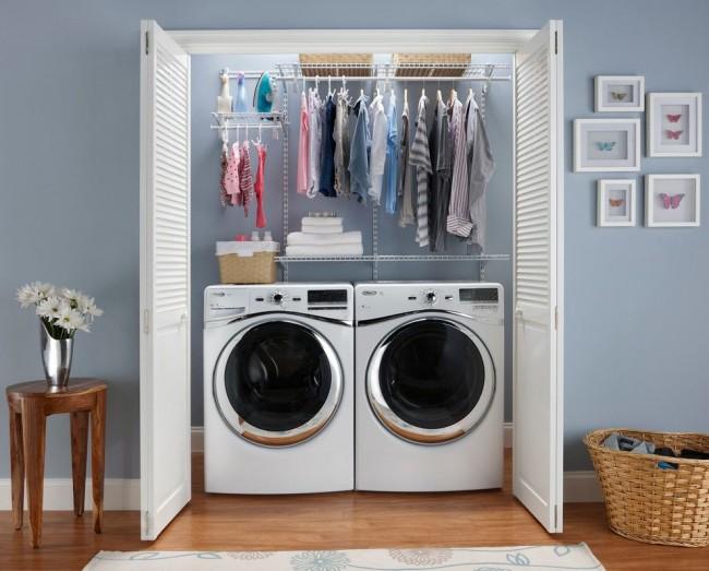 Un petit placard vous permettra même de positionner la machine à laver