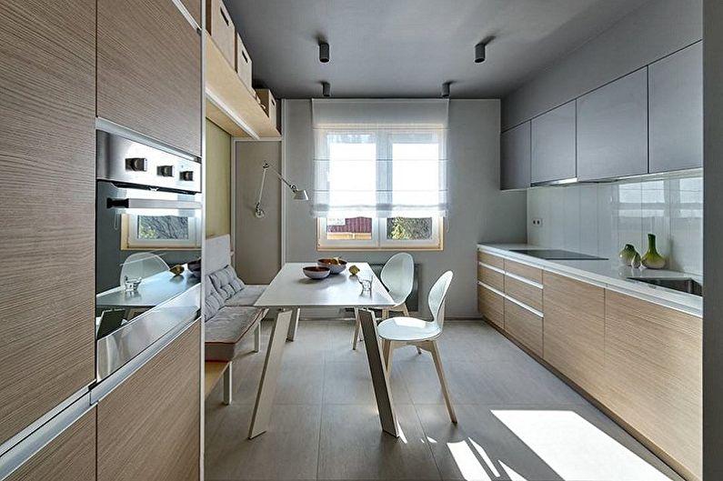 Cuisine minimaliste beige - Design d'intérieur