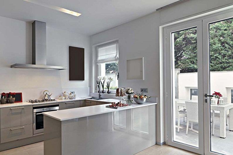 Cuisine grise dans le style du minimalisme - Design d'intérieur