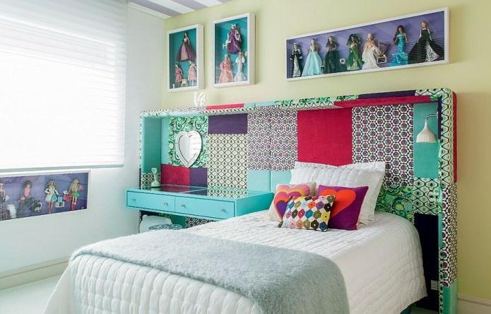tête de lit patchwork à l'intérieur