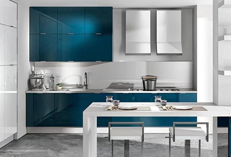 Cuisine bleue moderne - design d'intérieur