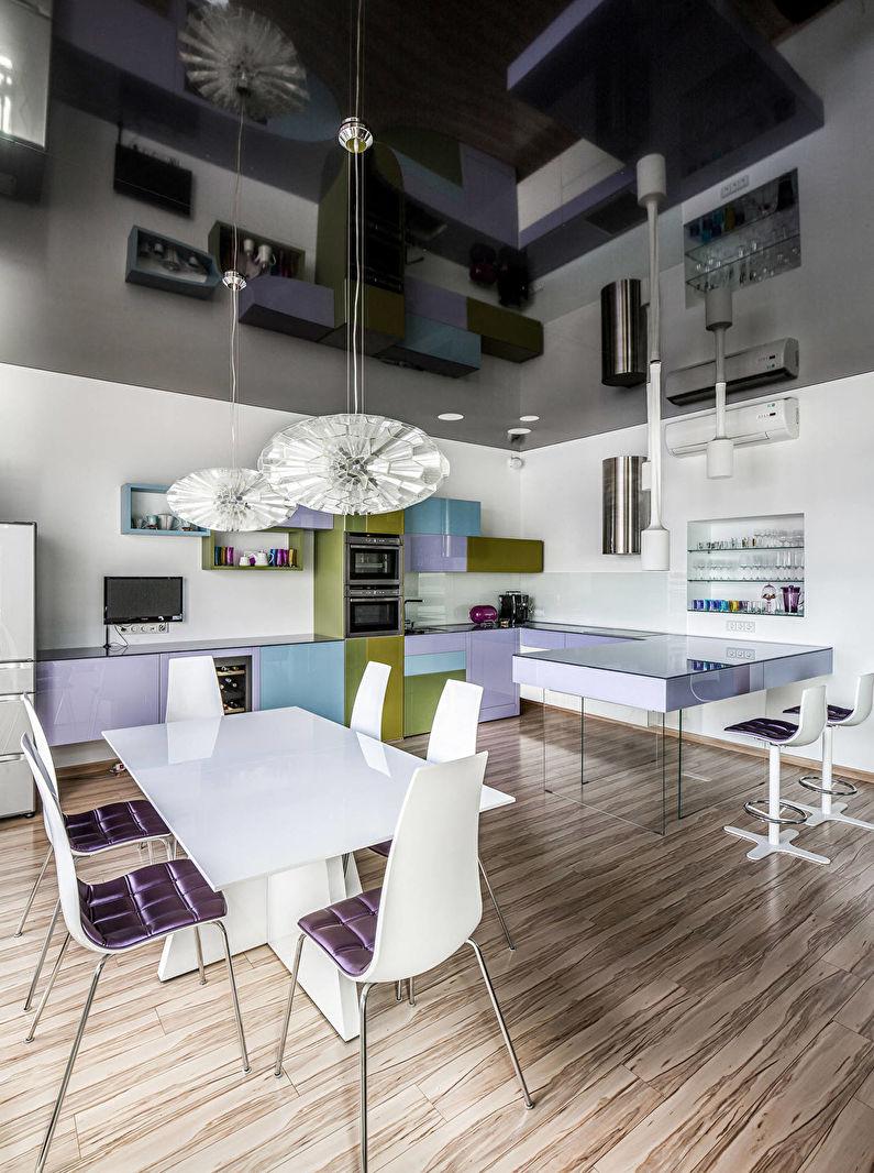 Cuisine moderne - conception de plafond