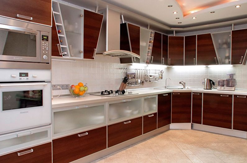 Cuisine marron moderne - design d'intérieur