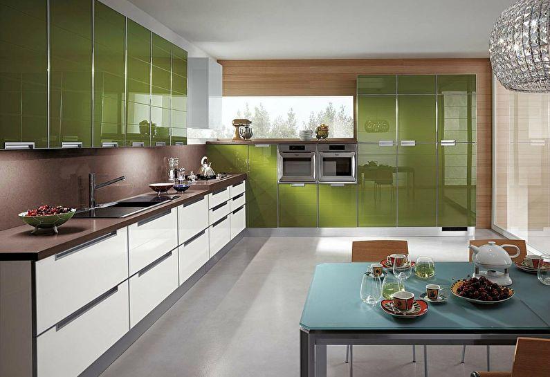 Cuisine verte moderne - design d'intérieur