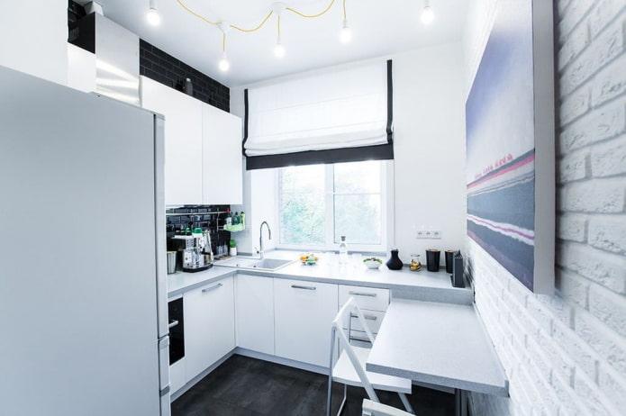 conception de cuisine de style loft à Khrouchtchev