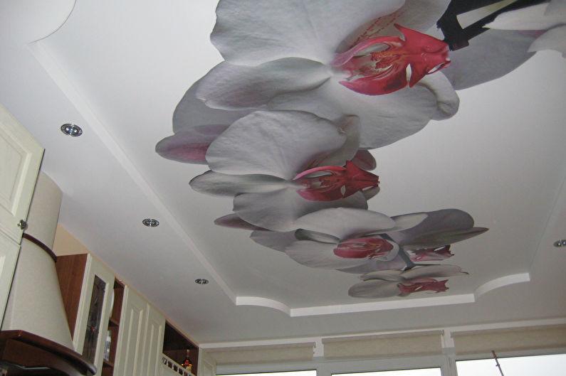 Plafonds tendus avec impression photo pour la cuisine