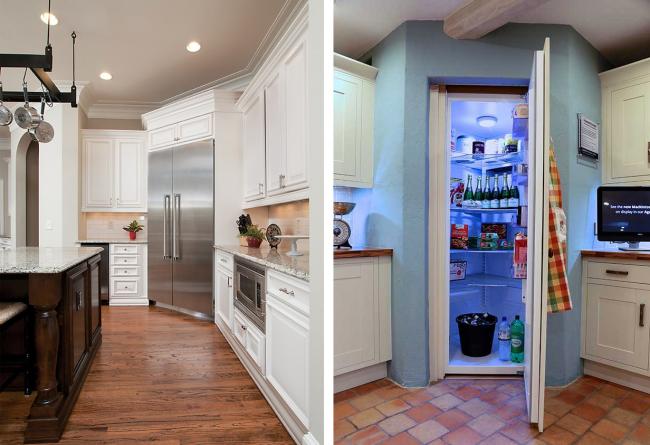 L'utilisation d'un réfrigérateur d'angle dans la cuisine est l'un des moyens les plus pratiques et les plus pratiques pour économiser de l'espace.