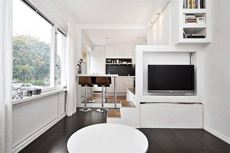 Conception de studio de cuisine - Plancher de piste