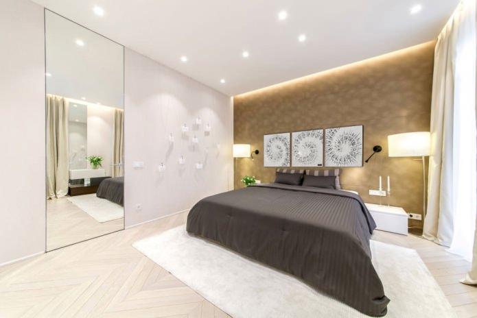 Peinture modulaire à l'intérieur de la chambre en blanc