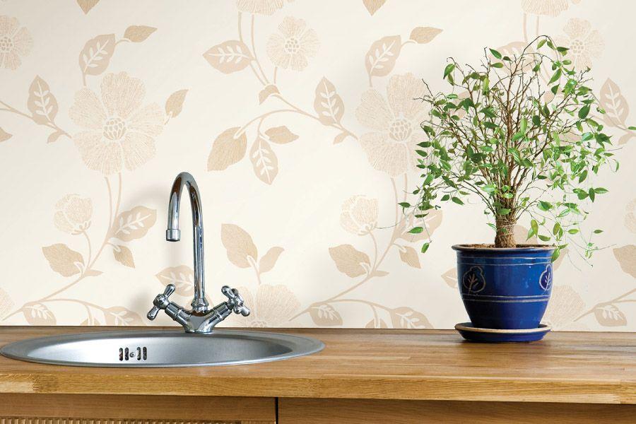Les teintes beiges du papier peint lavable sont idéales pour les personnes qui aiment le confort de la maison et aspirent à la paix et à la stabilité.