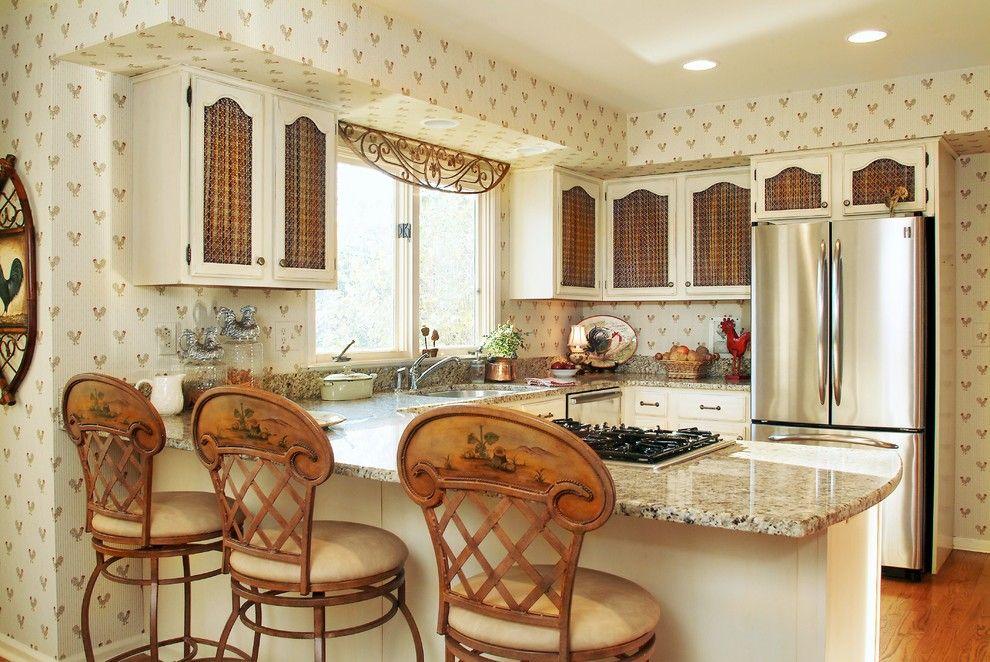 Papier peint beige lavable, a l'air décent dans n'importe quelle cuisine